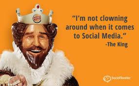 Burger King social Media